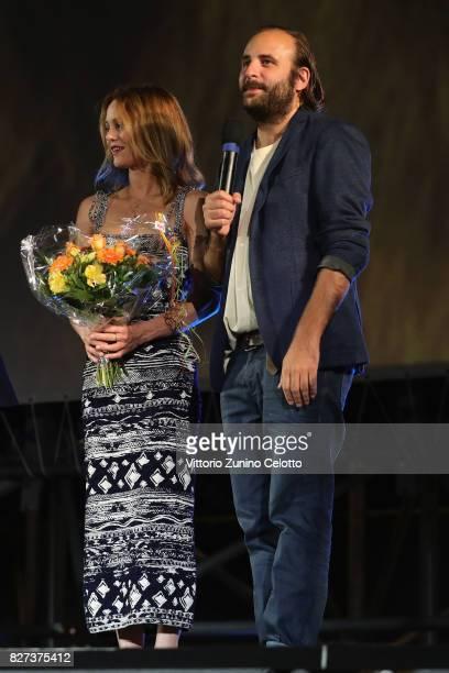 Vanessa Paradis Vincent Macaigne attend 'Chien' premiere during the 70th Locarno Film Festival on August 7 2017 in Locarno Switzerland