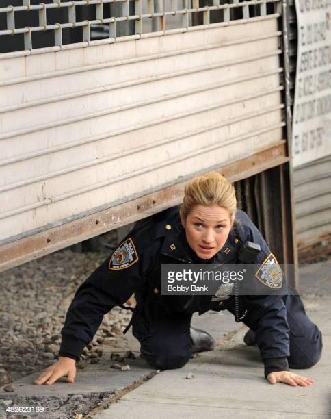 Vanessa Ray on the set of 'Blue Bloods' on April 3 2014 in New York City