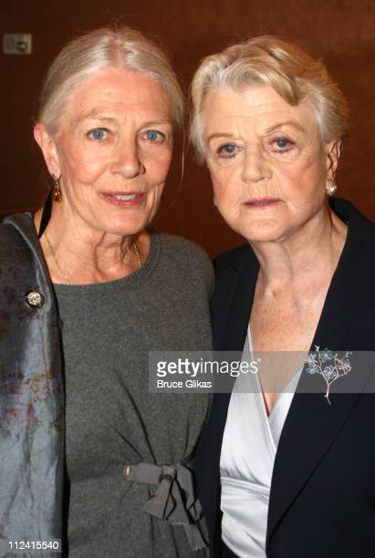 Vanessa Redgrave and Angela Lansbury during 2007 Tony Award Nominee Press Reception at The Marriott Marquis in New York New York United States