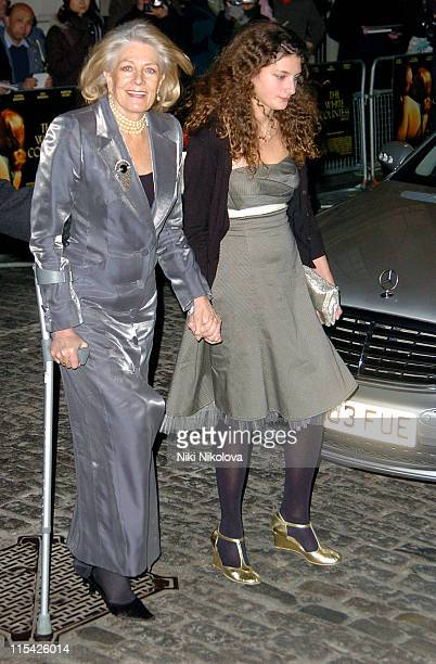 Vanessa Redgrave and Guest during 'The White Countess' London Premiere Arrivals at Curzon Mayfair in London Great Britain