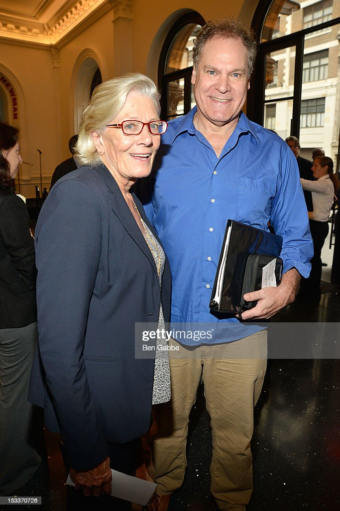 Vanessa Redgrave and Jay Sanders attend the Public Theater unveiling on October 4, 2012 in New York City.