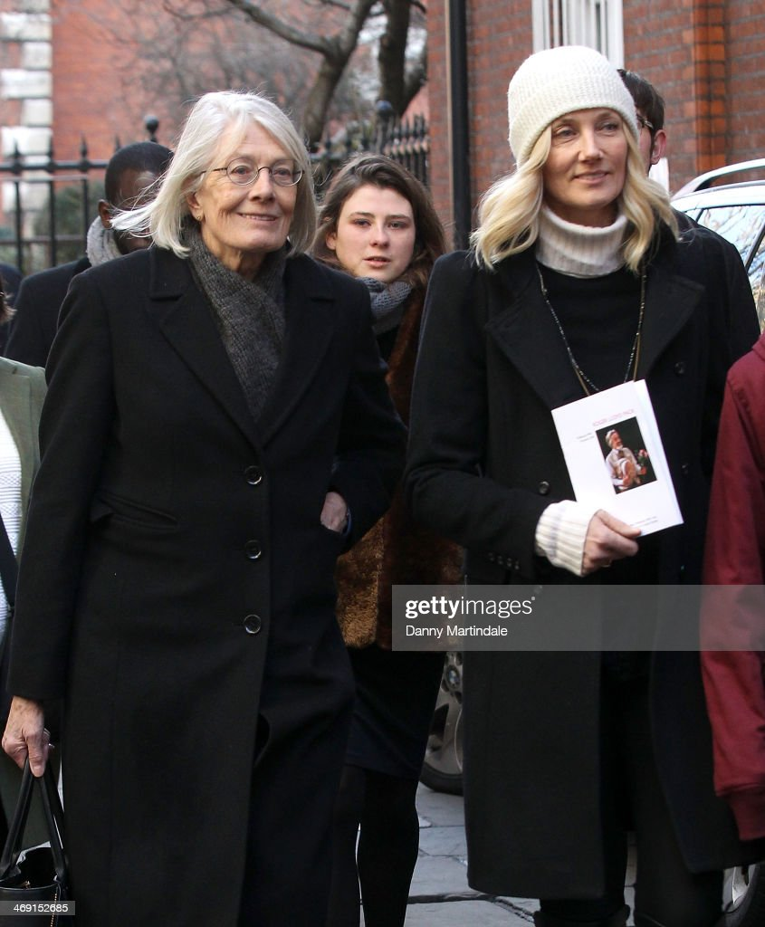 <a gi-track='captionPersonalityLinkClicked' href=/galleries/search?phrase=Vanessa+Redgrave&family=editorial&specificpeople=169891 ng-click='$event.stopPropagation()'>Vanessa Redgrave</a> and <a gi-track='captionPersonalityLinkClicked' href=/galleries/search?phrase=Joely+Richardson&family=editorial&specificpeople=201859 ng-click='$event.stopPropagation()'>Joely Richardson</a> attend the funeral of actor Roger Lloyd-Pack at St Paul's Church on February 13, 2014 in London, England.