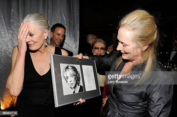 Vanessa Redgrave and Meryl Streep attend the amfAR New York Gala cosponsored by MAC Cosmetics to Kick Off Fall 2010 Fashion Week at Cipriani 42nd...