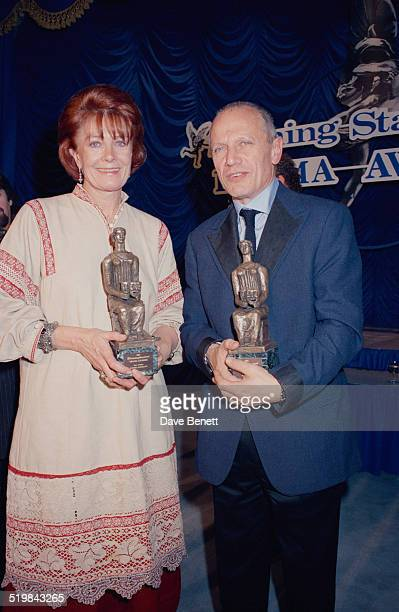Vanessa Redgrave and Steven Berkoff at the Evening Standard Theatre Awards held at the Savoy Hotel London 12th November 1991 Redgrave won Best...