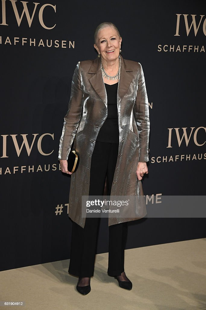 Vanessa Redgrave arrives at IWC Schaffhausen at SIHH 2017 'Decoding the Beauty of Time' Gala Dinner on January 17, 2017 in Geneva, Switzerland.