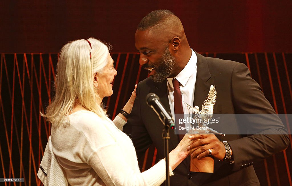 <a gi-track='captionPersonalityLinkClicked' href=/galleries/search?phrase=Vanessa+Redgrave&family=editorial&specificpeople=169891 ng-click='$event.stopPropagation()'>Vanessa Redgrave</a> presenters the Best Actor award to <a gi-track='captionPersonalityLinkClicked' href=/galleries/search?phrase=Idris+Elba&family=editorial&specificpeople=215443 ng-click='$event.stopPropagation()'>Idris Elba</a> for 'Beasts Of No Nation' at the London Evening Standard British Film Awards at Television Centre on February 7, 2016 in London, England.