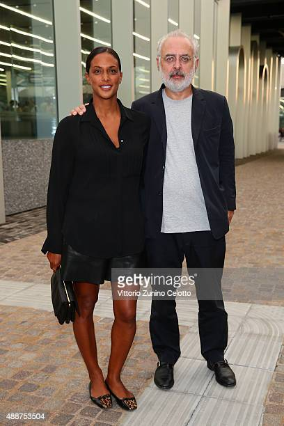 Vanessa Riding and Francesco Bonami attend 'Atlante Del Gesto' Dance Project at Fondazione Prada on September 17 2015 in Milan Italy