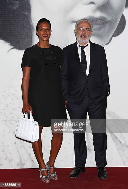 Vanessa Riding and Francesco Bonami attend the gala dinner for La Grande Madre Exhibition at Palazzo Reale on September 15 2015 in Milan Italy