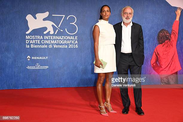 Vanessa Riding and Francesco Bonami attend the premiere of 'Franca Chaos And Creation' during the 73rd Venice Film Festival at Sala Giardino on...