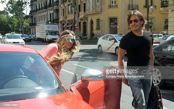 Vanessa Romero celebrates her 35th's birthday with her ex husband Alberto Caballero on June 4 2013 in Madrid Spain