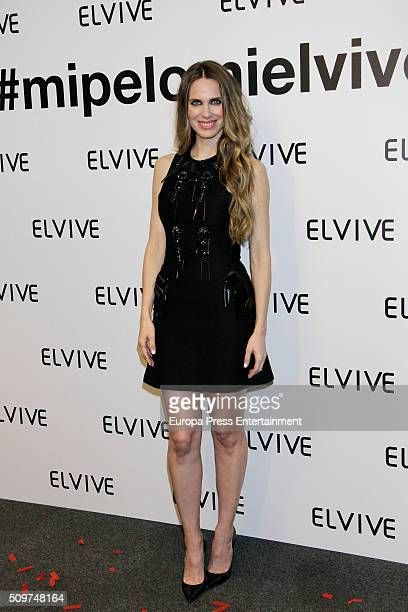 Vanessa Romero is presented as a new Elvive Ambassador on February 11 2016 in Madrid Spain