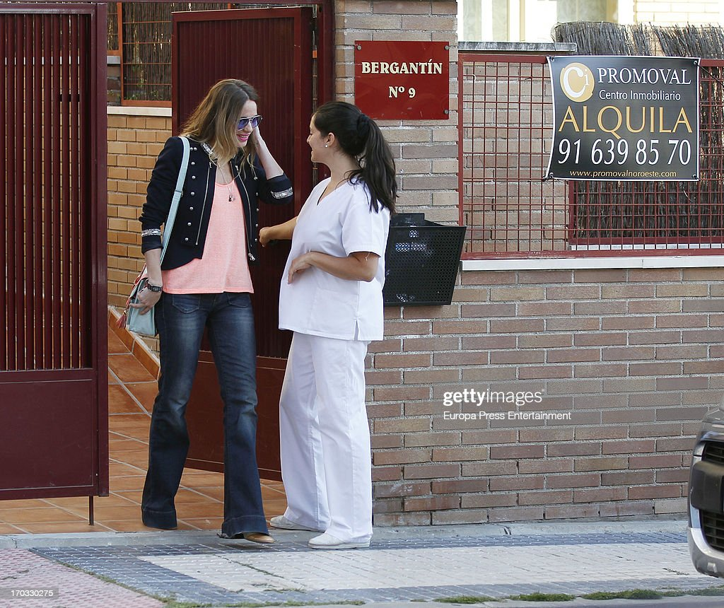 Vanessa Romero (L) is seen on June 10, 2013 in Madrid, Spain.