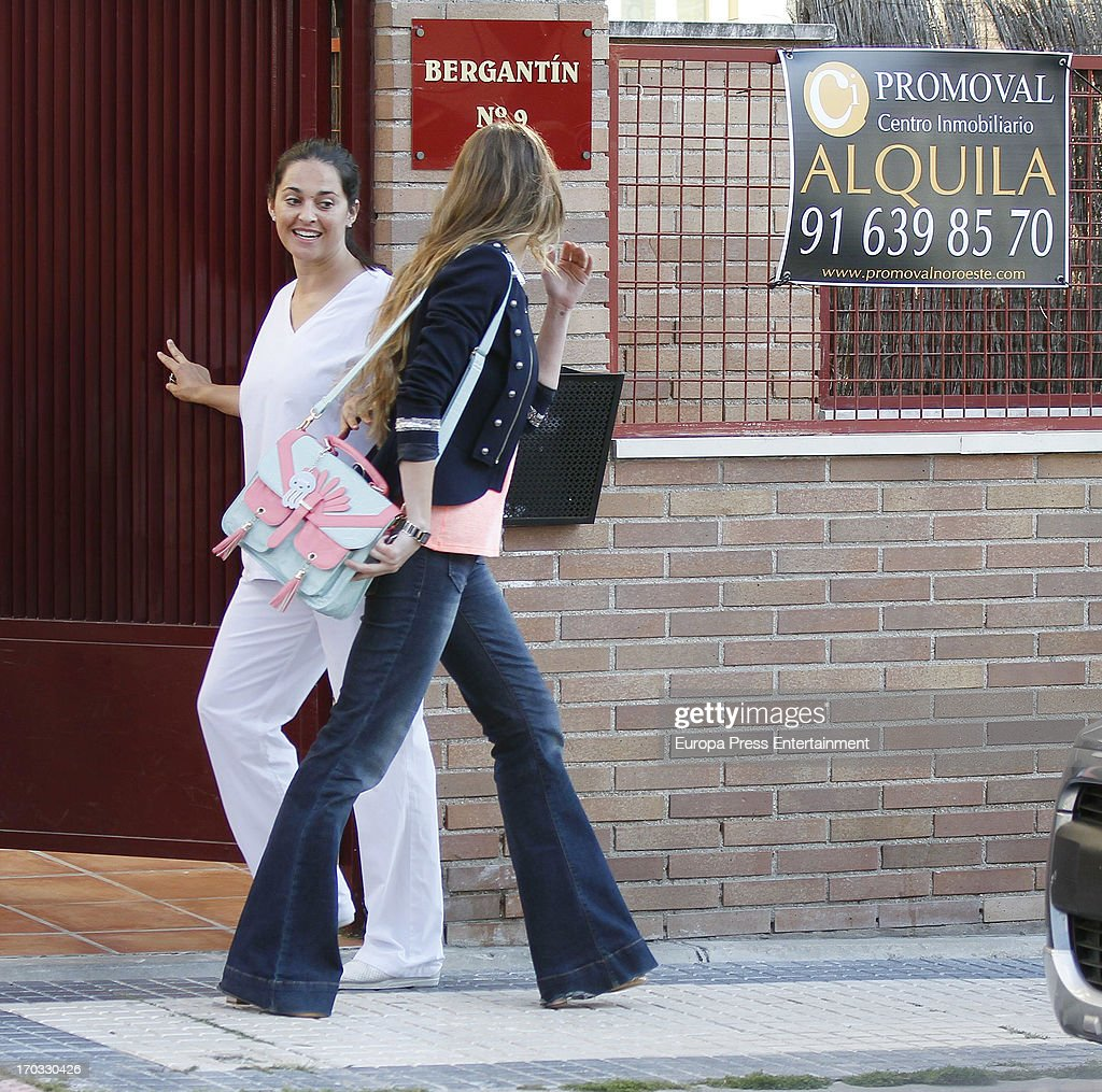 Vanessa Romero (R) is seen on June 10, 2013 in Madrid, Spain.