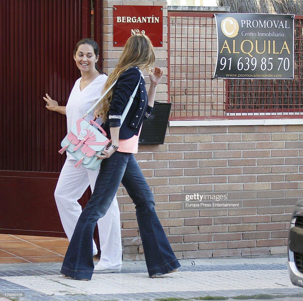 Vanessa Romero (R) is seen on June 10, 2013 in Madrid, Spain.