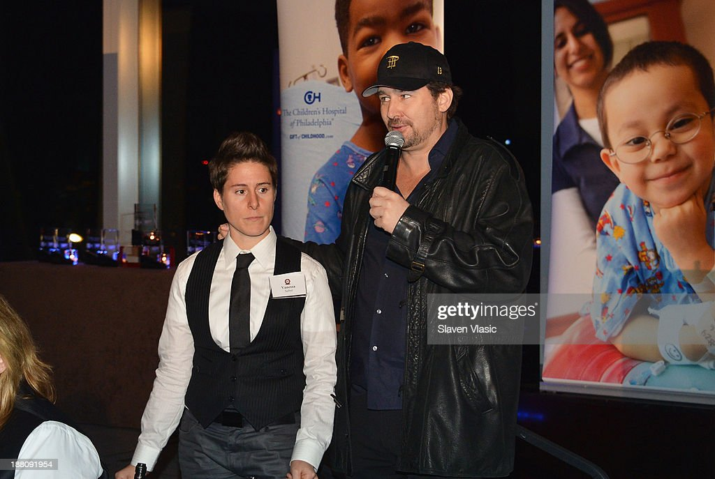 Vanessa Selbst and <a gi-track='captionPersonalityLinkClicked' href=/galleries/search?phrase=Phil+Hellmuth&family=editorial&specificpeople=810515 ng-click='$event.stopPropagation()'>Phil Hellmuth</a> attend The Children's Hospital Of Philadelphia & World Poker Tour 'All In' For Kids Poker Tournament at Mandarin Oriental Hotel on November 14, 2013 in New York City.