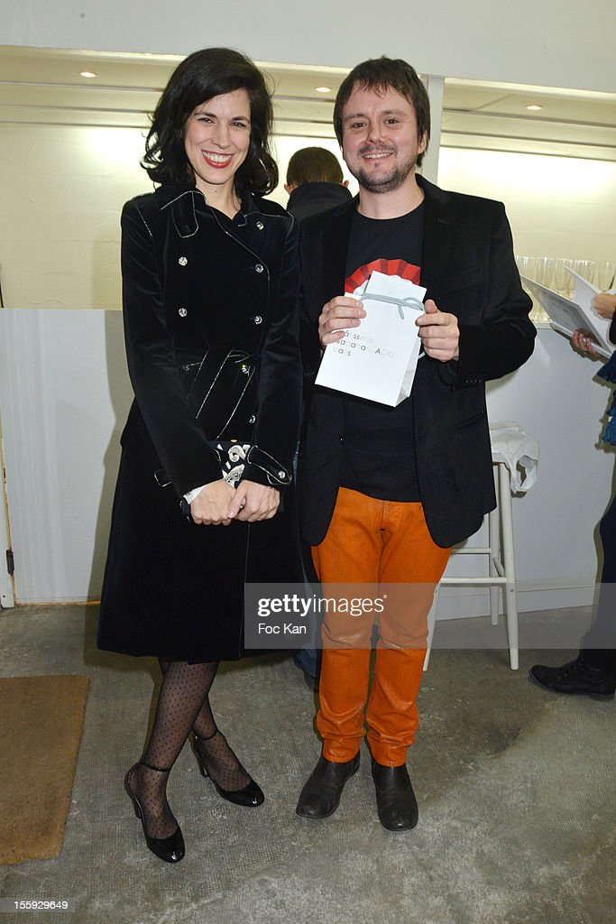 <a gi-track='captionPersonalityLinkClicked' href=/galleries/search?phrase=Vanessa+Seward&family=editorial&specificpeople=4360838 ng-click='$event.stopPropagation()'>Vanessa Seward</a> and Baudoin attend 'Les Parisiennes' - Photo Exhibition Preview at Galerie Clementine De La Feronniere on November 8, 2012 in Paris, France.
