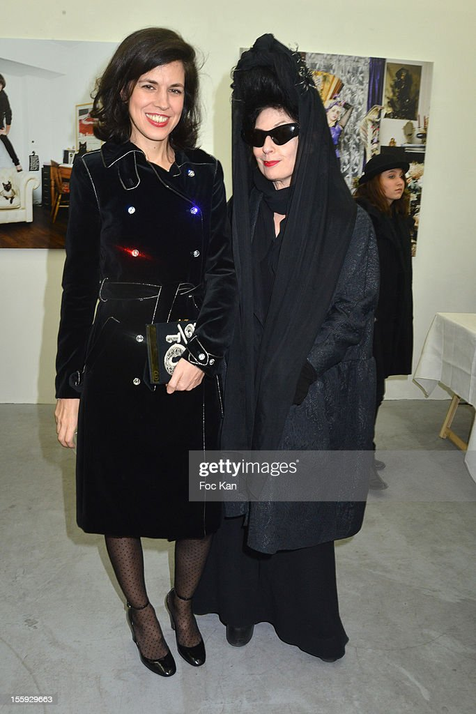 <a gi-track='captionPersonalityLinkClicked' href=/galleries/search?phrase=Vanessa+Seward&family=editorial&specificpeople=4360838 ng-click='$event.stopPropagation()'>Vanessa Seward</a> and Diane Pernet attend'Les Parisiennes' - Photo Exhibition Preview at Galerie Clementine De La Feronniere on November 8, 2012 in Paris, France.
