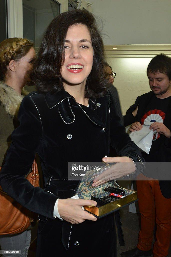 Vanessa Seward attends 'Les Parisiennes' - Photo Exhibition Preview at Galerie Clementine De La Feronniere on November 8, 2012 in Paris, France.