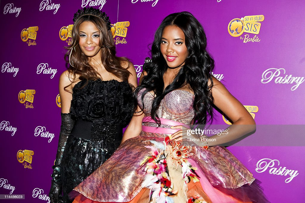 Vanessa Simmons and Angela Simmons arrive to the Pastry Barbie So In Style Shoe Collection Launch Party at SLS Hotel in Los Angeles California on May...