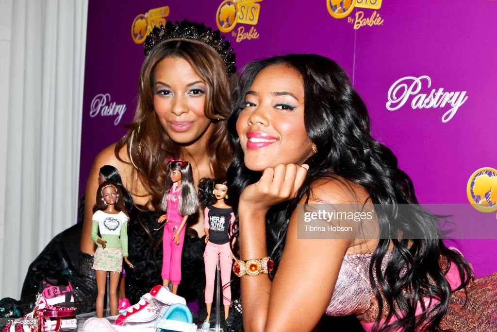 Vanessa Simmons and Angela Simmons arrives to the Pastry Barbie So In Style Shoe Collection Launch Party at SLS Hotel in Los Angeles California on...