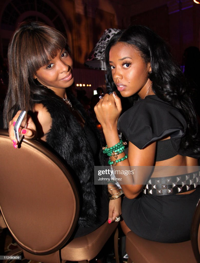 Vanessa Simmons and Angela Simmons attend the Russell Simmons Diamond Empowerment Fund Dallas Rocks Benefit Dinner on November 14 2009 in Dallas Texas