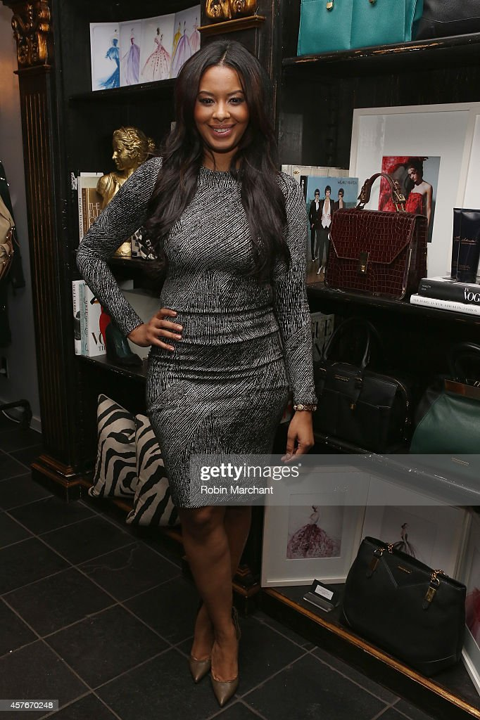 Vanessa Simmons celebrates the premiere of Lifetime's All New Fashion Series 'Project Runway THREADS' at Christian Siriano Boutique on October 22...