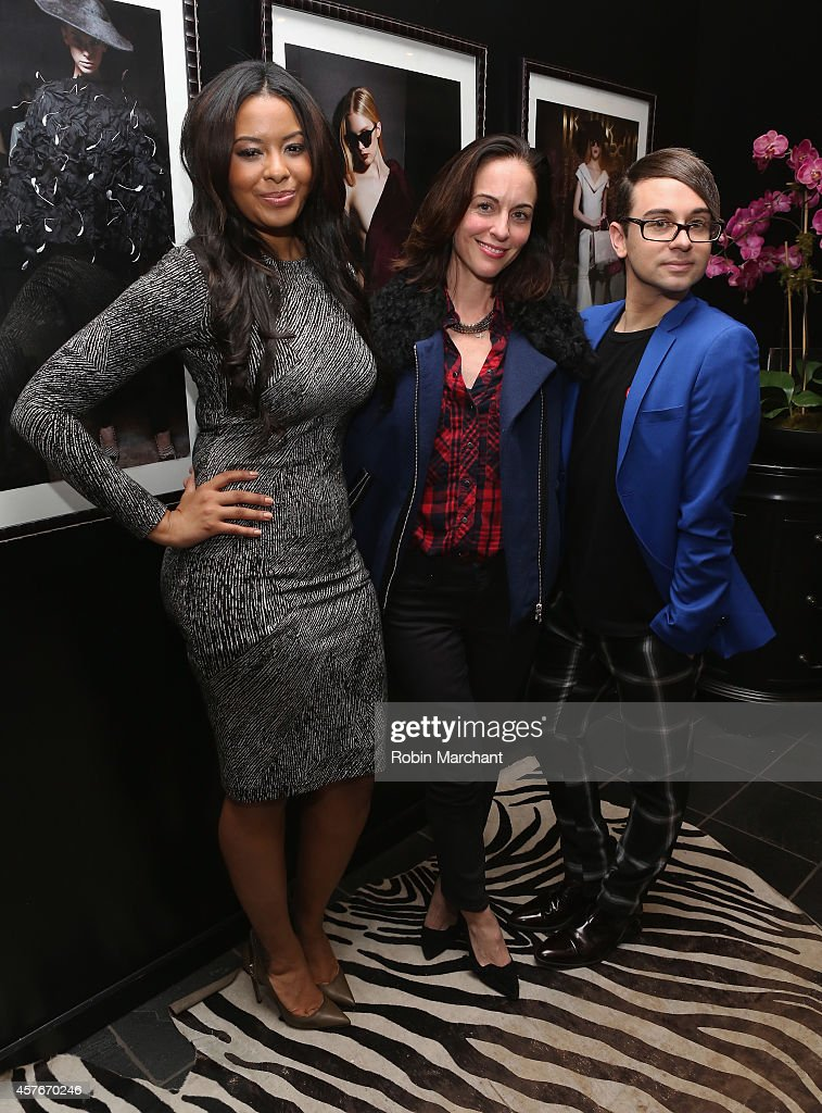 Vanessa Simmons Gina Kelly and Christian Siriano celebrate the premiere of Lifetime's All New Fashion Series 'Project Runway THREADS' at Christian...