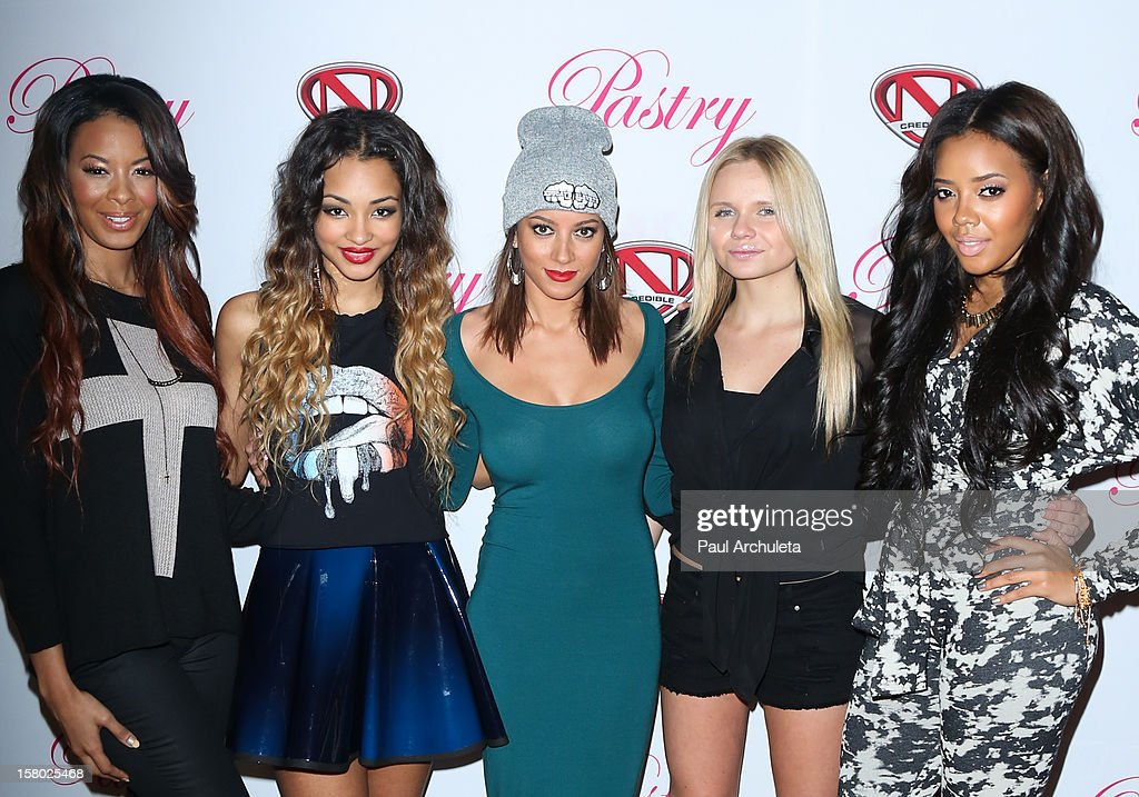 Vanessa Simmons, Jessica Jarrell, Mz Bratt Alli Simpson and Angela Simmons attend the 'Skate & Donate' charity event at the Moonlight Rollerway on December 8, 2012 in Glendale, California.