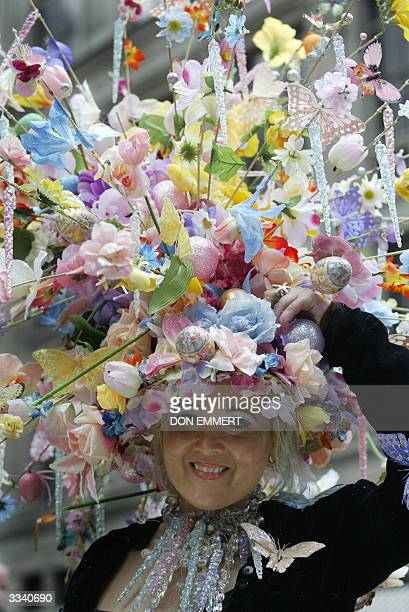 Vanessa Sterbenz of Manhattan shows off her Easter Bonnet on Fifth Avenue 11 April 2004 in New York The Easter Parade along Fifth Avenue from 49th to...