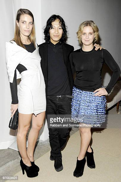 Vanessa Traina Alexander Wang and Victoria Traina attend the CFDA/Vogue Fashion Fund Awards at Skylight Studio on November 16 2009 in New York City