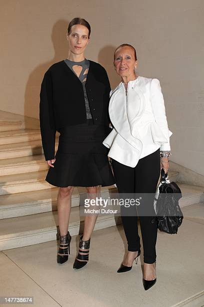 Vanessa Traina and Daniele Steel attend the Christian Dior HauteCouture Show as part of Paris Fashion Week Fall / Winter 2013 on July 2 2012 in Paris...