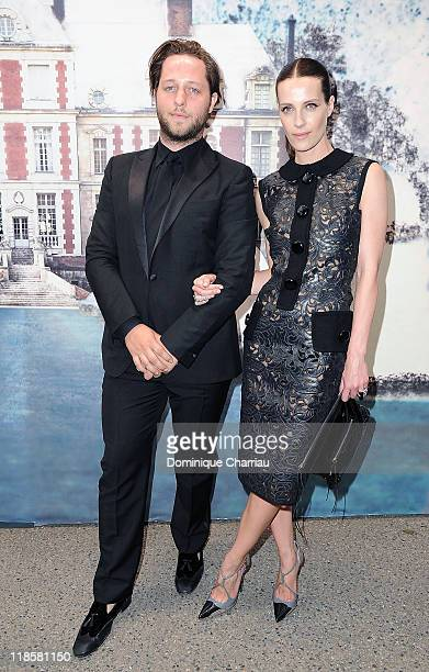Vanessa Traina and guest attend 'The White Fairy Tale Love Ball' in Support of The Naked Heart Foundation at Chateau De Wideville on July 6 2011 in...