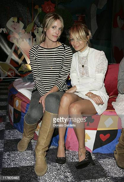 Vanessa Traina and Nicole Richie during Disney's Alice in Wonderland Mad Tea Party at Private Residence in Los Angeles California United States