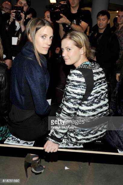 Vanessa Traina and Victoria Traina attend PROENZA SCHOULER Fall 2010 Collection at Mil on February 17 2010 in New York City