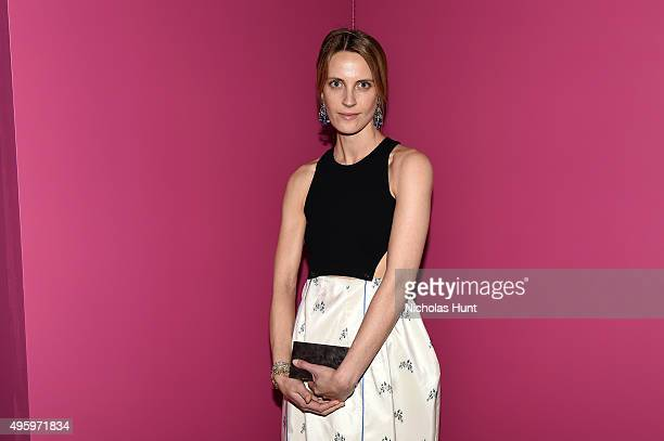 Vanessa Traina attends the 2015 Guggenheim International Gala Dinner made possible by Dior at Solomon R Guggenheim Museum on November 5 2015 in New...