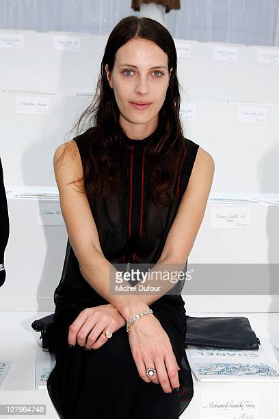 Vanessa Traina attends the Chanel Ready to Wear Spring / Summer 2012 show during Paris Fashion Week at Grand Palais on October 4 2011 in Paris France