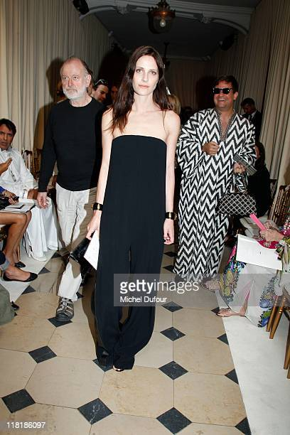 Vanessa Traina attends the Giambatista Valli Haute Couture Fall/Winter 2011/2012 show as part of Paris Fashion Week at Galerie De La Madeleine on...