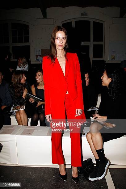 Vanessa Traina attends the Givenchy Ready to Wear Spring/Summer 2011 show during Paris Fashion Week on October 3 2010 in Paris France