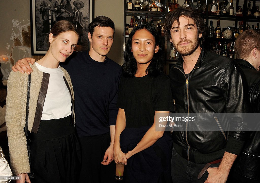Vanessa Traina, Jacob Kay, Alexander Wang and Robert Konjic attend as MR PORTER.COM and Alexander Wang launch their capsule collection at Coya on April 29, 2013 in London, England.