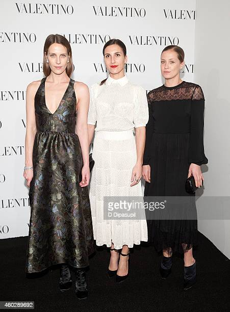 Vanessa Traina Samantha Traina and Victoria Traina attend the Valentino Sala Bianca 945 Event on December 10 2014 in New York City