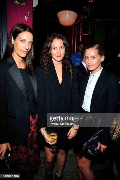 Vanessa Traina Sarah Lindbeck and Victoria Traina attend NEW YORK TIMES T MAGAZINE Welcomes New Editor at The Spotted Pig on September 16 2010 in New...