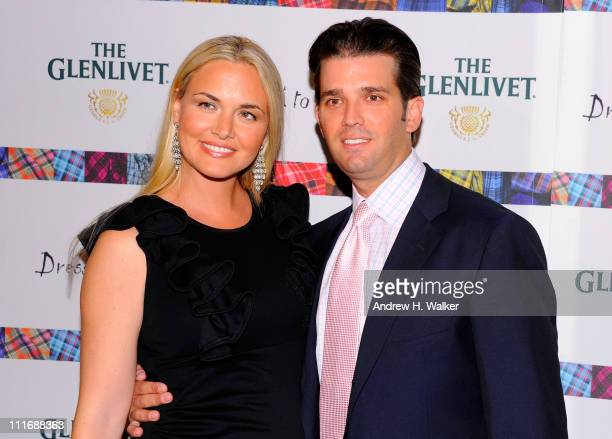 Vanessa Trump and Donald Trump Jr attend the 9th Annual 'Dressed To Kilt' charity fashion show at Hammerstein Ballroom on April 5 2011 in New York...