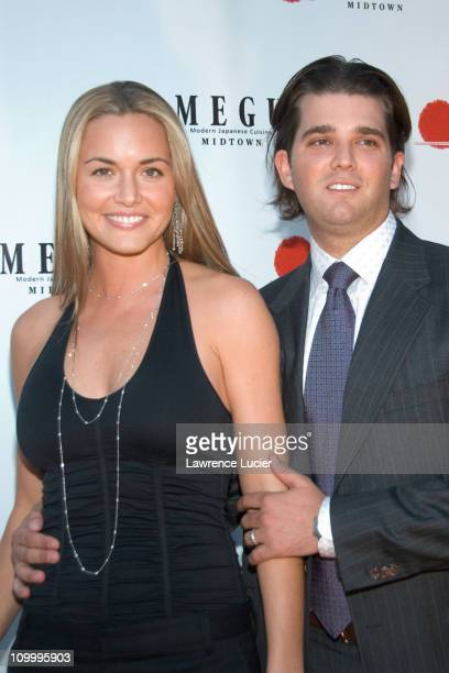 Vanessa Trump and Donald Trump Jr during Grand Opening of Megu Midtown at Trump World Towers at Trump World Towers in New York NY United States
