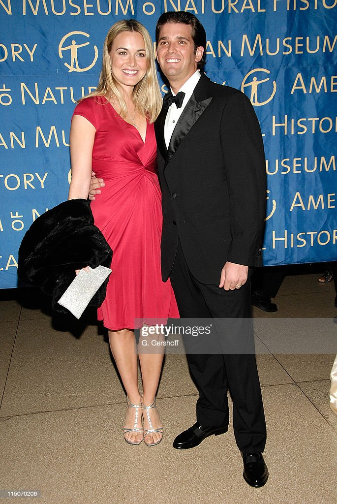Vanessa Trump and real estate executive Donald Trump Jr arrive to the American Museum of Natural History Winter's Dance at the American Museum of...