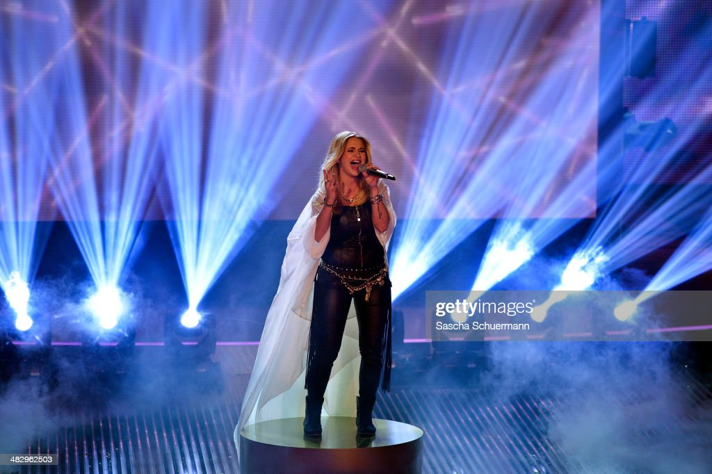 Vanessa Valera Rojas performs at the rehearsal for the 2nd 'Deutschland sucht den Superstar' (DSDS) show at Coloneum on April 5, 2014 in Cologne, Germany.