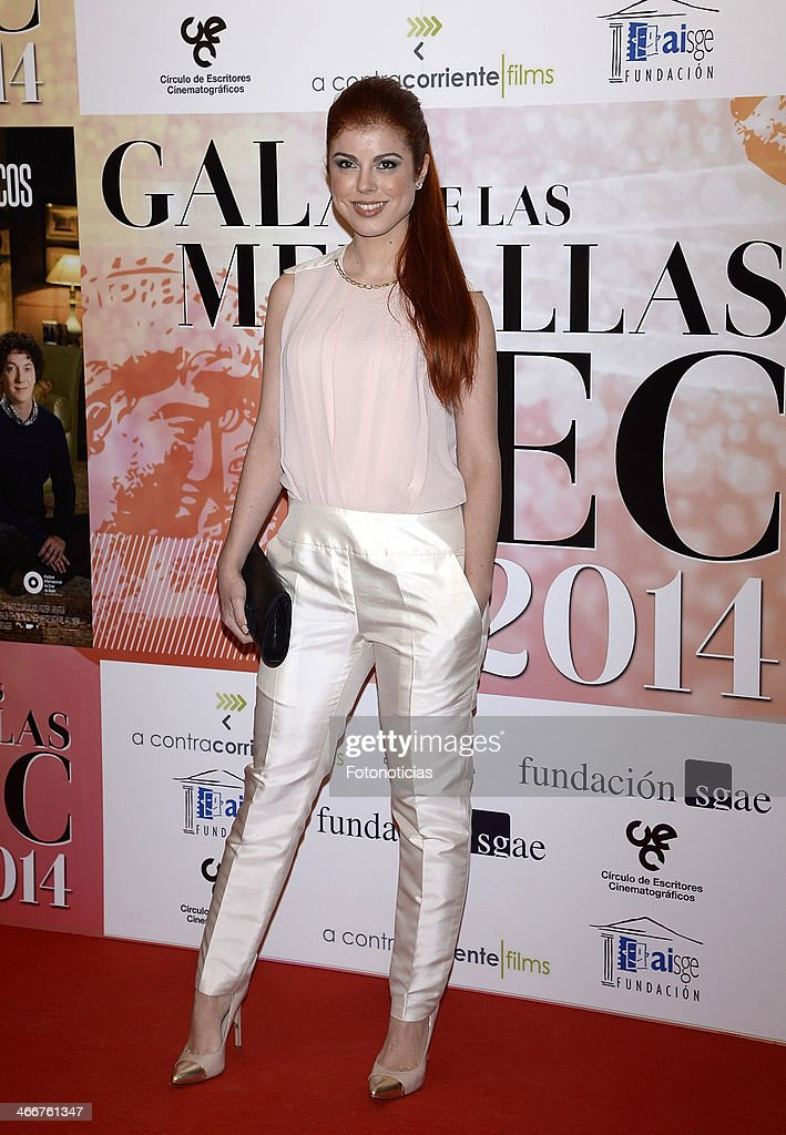 Vanessa Vilanova attends the 'CEC' medals 2014 ceremony at the Palafox cinema on February 3, 2014 in Madrid, Spain.