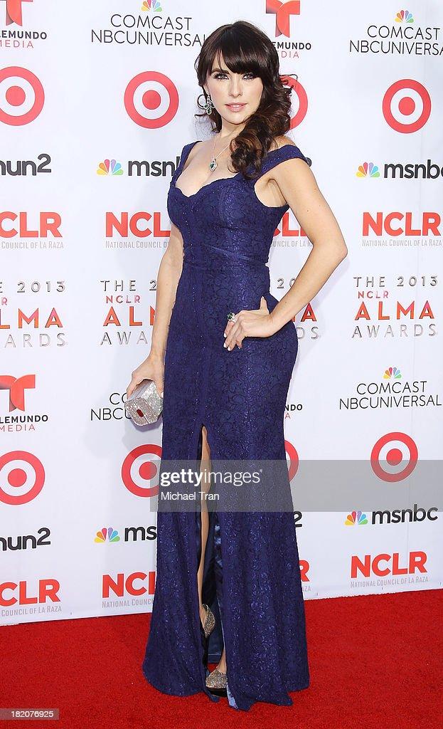 Vanessa Villela arrives at the 2013 NCLR ALMA Awards held at Pasadena Civic Auditorium on September 27 2013 in Pasadena California