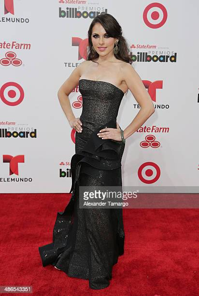 Vanessa Villela arrives at the 2014 Billboard Latin Music Awards at Bank United Center on April 24 2014 in Miami Florida