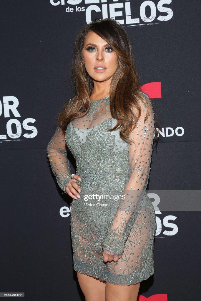 Vanessa Villela attends 'El Senor De Los Cielos' season 5 premiere red carpet at Cinemex Antara Polanco on June 20, 2017 in Mexico City, Mexico.
