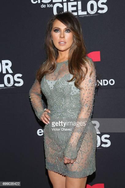 Vanessa Villela attends 'El Senor De Los Cielos' season 5 premiere red carpet at Cinemex Antara Polanco on June 20 2017 in Mexico City Mexico